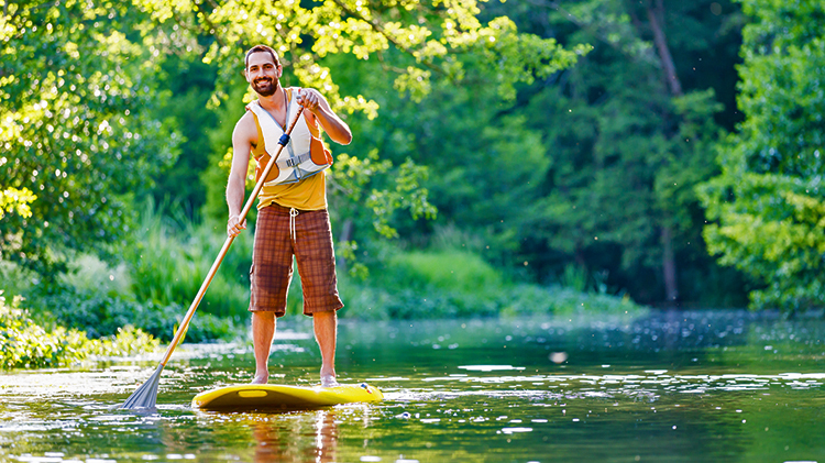 Stand Up Paddling on the Altrhein (Self Drive)