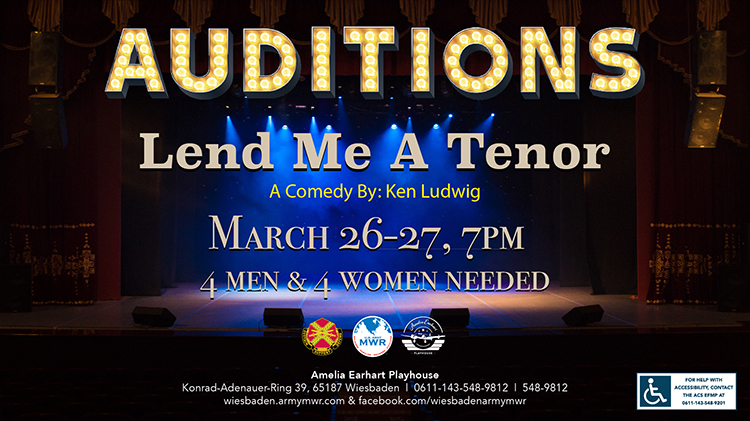 """Lend Me A Tenor"" Auditions"